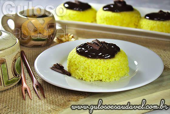 Cuscuz com Cobertura de Chocolate » Receitas Saudáveis, Tortas e Bolos » Guloso e Saudável