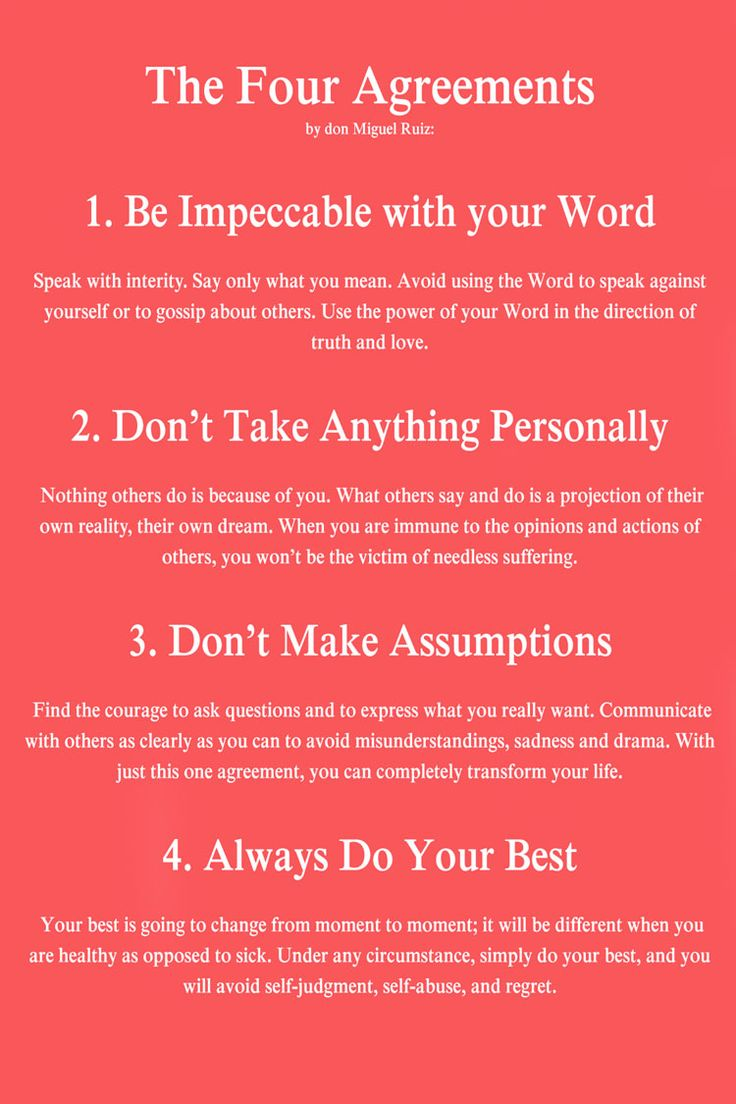 The Four Agreements Quotes Stunning 45 Best The Four Agreements Images On Pinterest  Inspiration Quotes . Inspiration