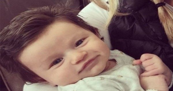This Baby Was Born With A Full Head Of Hair And The Internet Loves Her