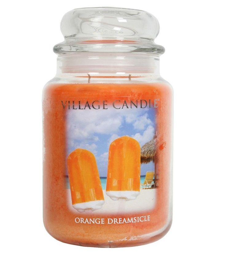 Village Candle Scented Large 26oz Double Wick Jar Orange Dreamsicle
