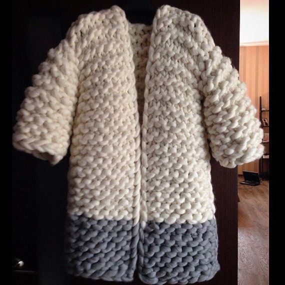 Two color Cardigan by Warm and Tender. 100 % by byWarmAndTender