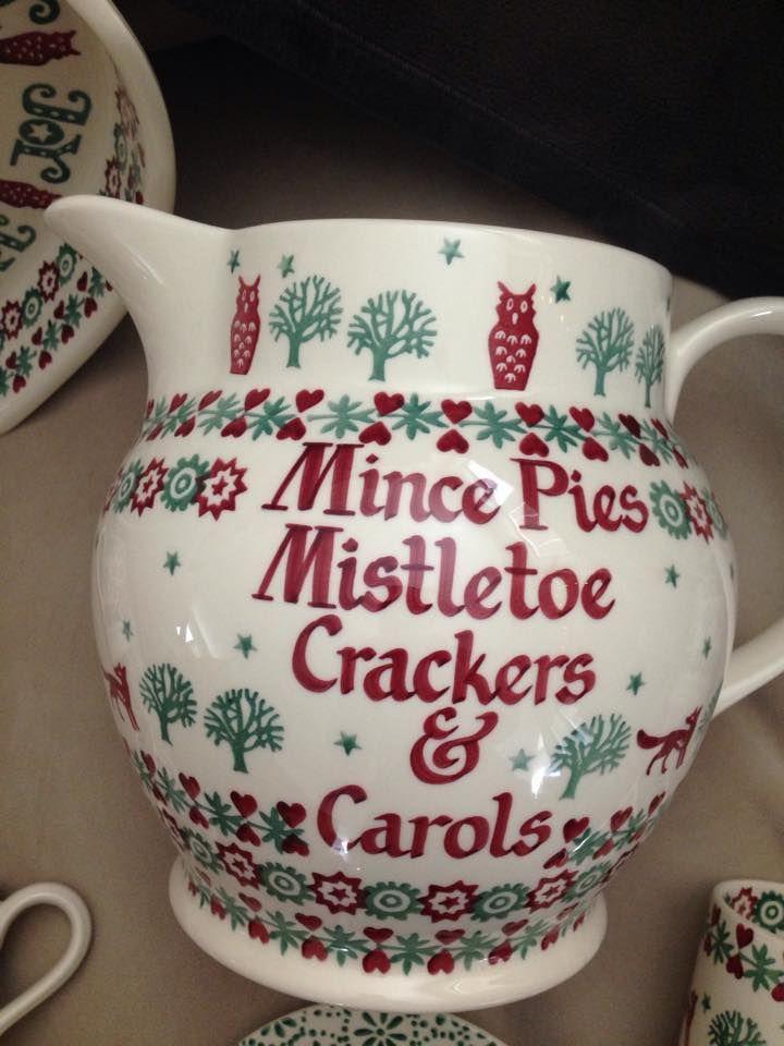 Emma Bridgewater Christmas Joy Personalised 6 Pint Jug 2014