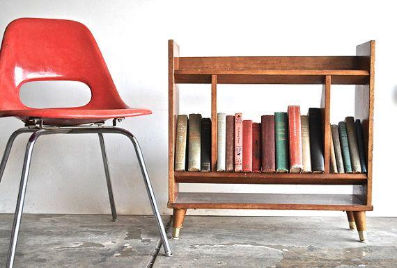 Mid Century Bookshelf - Modern Vintage Furniture Home Decor