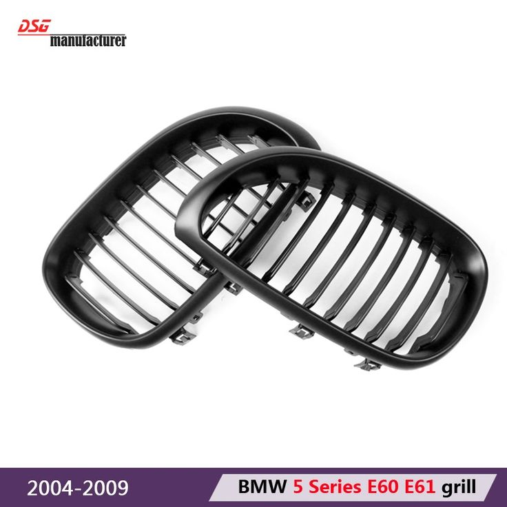 79.04$  Watch now - http://aliidw.worldwells.pw/go.php?t=32667483118 - e60 black grill e61 abs front bumper kidney hood grill for bmw 2004 - 2009 5 series 4-door sedan 5-door station wagon car tuning