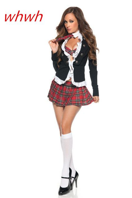 Naughty School Girl Costume school girl sexy costume Plus size S-XXL