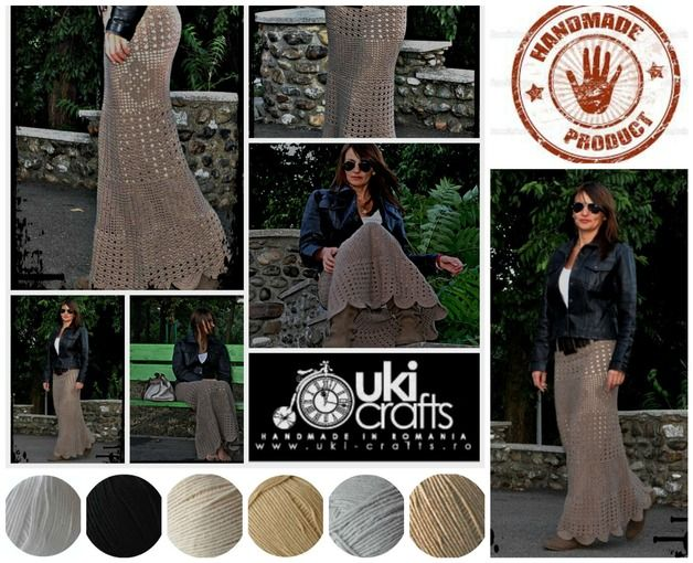 Made to Measure Clothes – Crochet Maxi Skirt Crochet Maxirock – a unique product by uki-boots on DaWanda