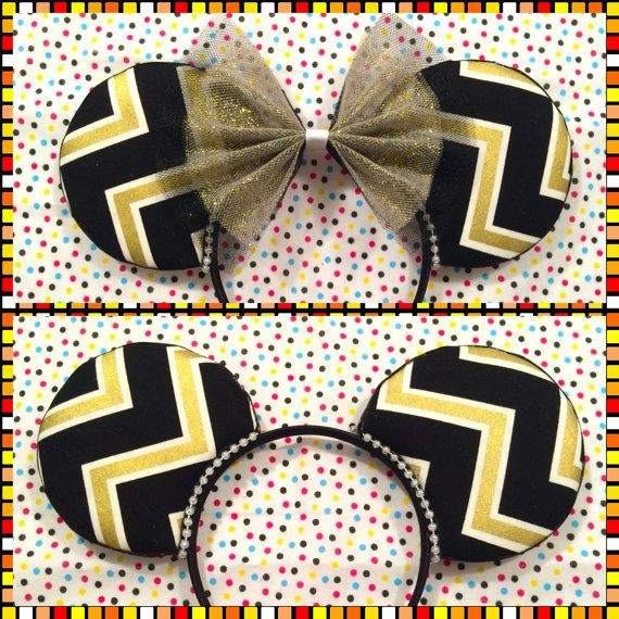 NFL Saints / UCF Knights Inspired Mouse Ears by MalifAccents