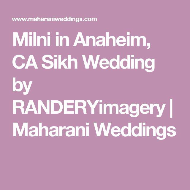 Milni in Anaheim, CA Sikh Wedding by RANDERYimagery | Maharani Weddings