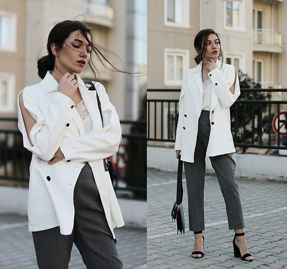 Get this look: http://lb.nu/look/8681339  More looks by Melike Gül: http://lb.nu/melikegul  Items in this look:  Shein Blazer, Romwe Cami Top, Mango Trousers, Asos Heels   #chic #classic #street