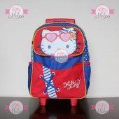 Mochila De Ruedas GRANDE RUZ Azul/Rojo Hello Kitty