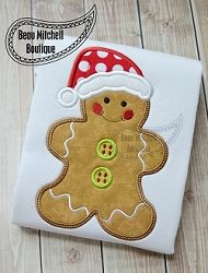 Gingerbread Boy Applique - 3 Sizes! | What's New | Machine Embroidery Designs | SWAKembroidery.com Beau Mitchell Boutique