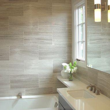 Calacatta Porcelain Tile Bath Design Ideas Pictures Remodel And Decor
