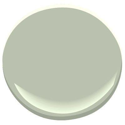 Powder room -- Benjamin Moore #472 aganthus green