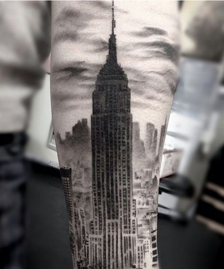 Cool NYC Tattoos - Body Art Meaning | See 15 ridiculously ornate tattoos that pay homage to the city we call home. #refinery29 http://www.refinery29.com/nyc-inspired-tattoos