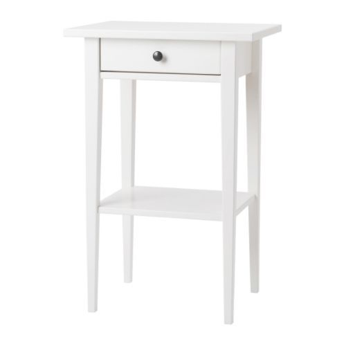 IKEA HEMNES Bedside table White 46x35 cm Smooth running drawer with pull-out stop. - £45 BUT IN BLACK/BROWN NOT WHITE