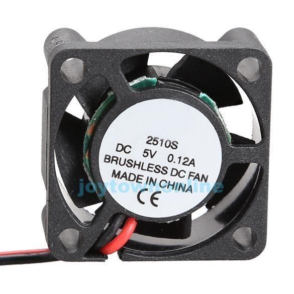 1 96 Aud 5v Brushless Dc Computer Cpu Case Fan Coolder 2510mm