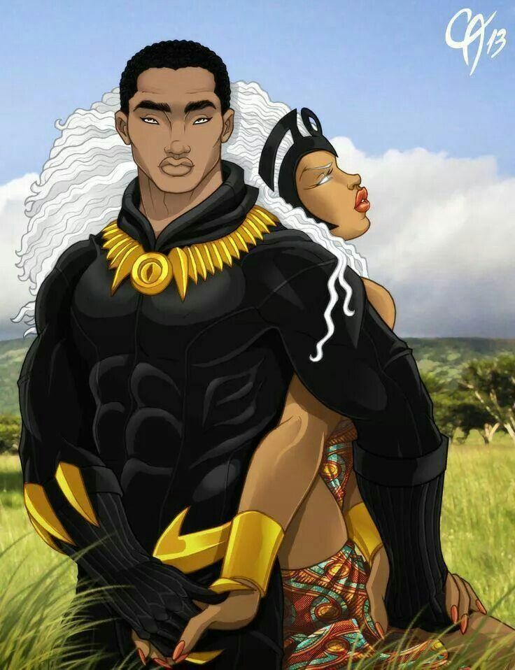 Storm and her King Black panther art