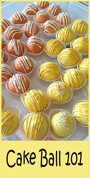 Cake Balls: Einfach einen fertig gebackenen Rührkuchen zerdrücken und Kugeln formen. Die Kugeln einige Zeit in den Gefrierschrank legen. Dann nochmal fest drücken und die kalte Kugel 2 - 3 mal mit z. B. dunkler Schokolade überziehen. Trocknen lassen, fertig.