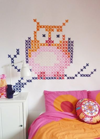 painted cross stitch hmm sort of like this idea