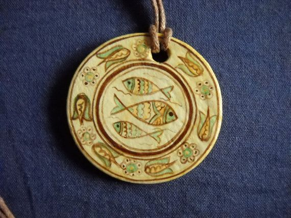 Romanian traditional motiffish Jesus simbol by DeniseClemenco, $12.00