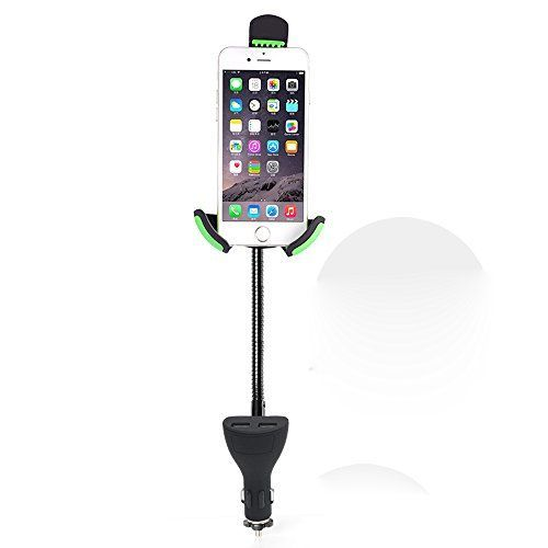 Hands-free smartphone car mount and 2 usb 2.1A charger in one,ensures that you can drive safely without fearing accidents or fines,smart charge your phone quickly. * The goose neck is highly customizable and flexible,range 100-140mm,simply turn it any way you want. * Full 360-degree rotation for the perfect viewing angle. * The high-quality, soft, non-slip surface keeps your phone tightly locked in,Without leaving a scratch on it. * (Placed within the Amazon Associates program) * 09:11 Mar 1