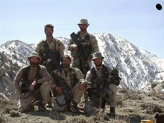US Army Delta Force in Afghanistan March 2002. RIP Bob Horrigan, bottom right.