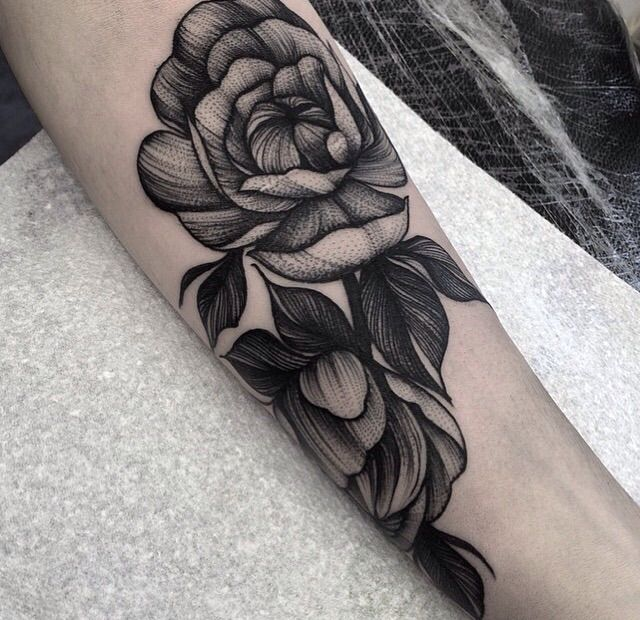 32 Best No Line Flower Tattoo Images On Pinterest: Best 25+ Black Work Tattoo Ideas On Pinterest