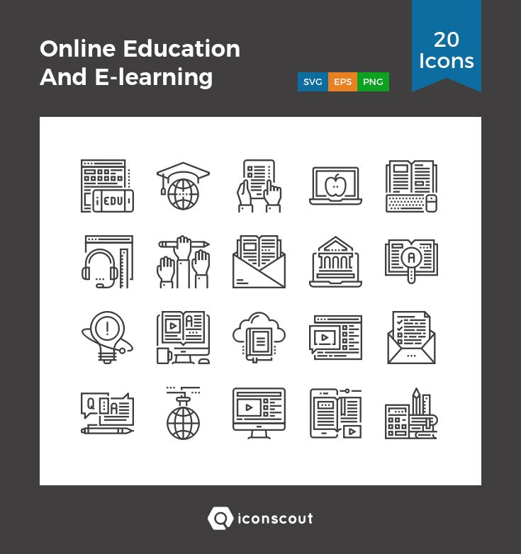 Download Online Education And E Learning Icon Pack Available In Svg Png Eps Ai Icon Fonts Online Education Elearning Education Icon