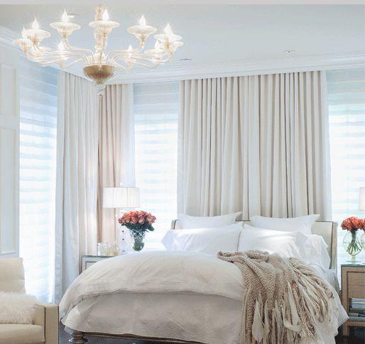 Simple Bedroom Interior Images Log Bed Bedroom Ideas Romantic Bedroom Lighting Ideas Boys Bedroom Wall Decor: Floor-to-ceiling Curtains Hidden By Crown Molding.