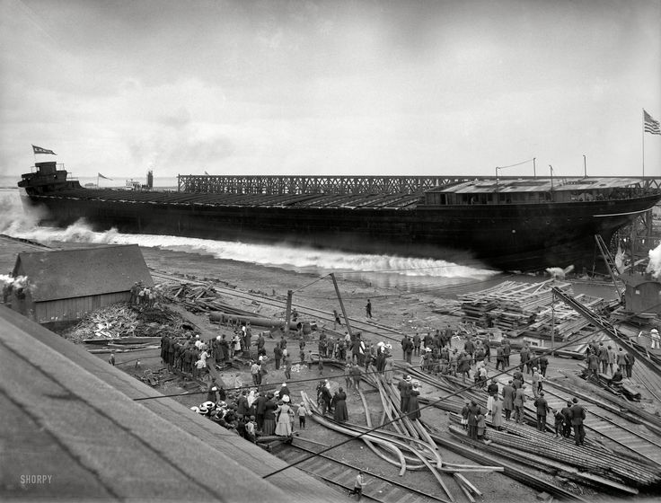 1910 Ship Launch