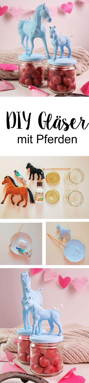 Wir basteln ausgefallene DIY Gläser mit Pferden und zeigen euch die einfache Anleitung für diese DIY Deko Idee zum Selbermachen