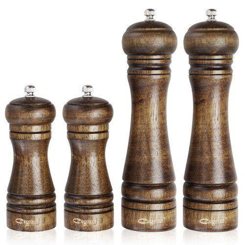 1pc or 4pcs/set Classical Oak Wood Mill Grinder Set