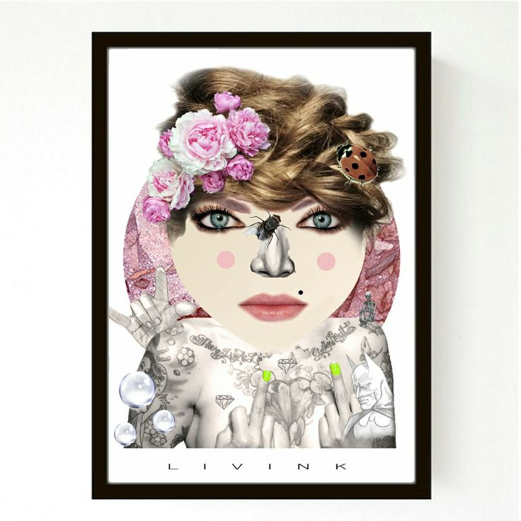 50 X 70 CM  FORUDBESTILLING - FLOWERGIRL via LIVINK. Click on the image to see more!