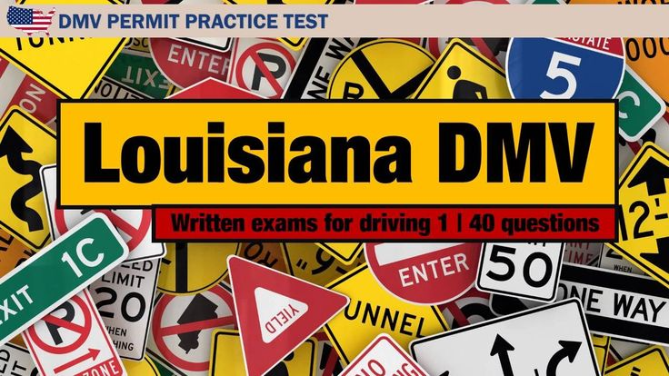Written Exams For Driving: Louisiana DMV Permit Practice Test 1