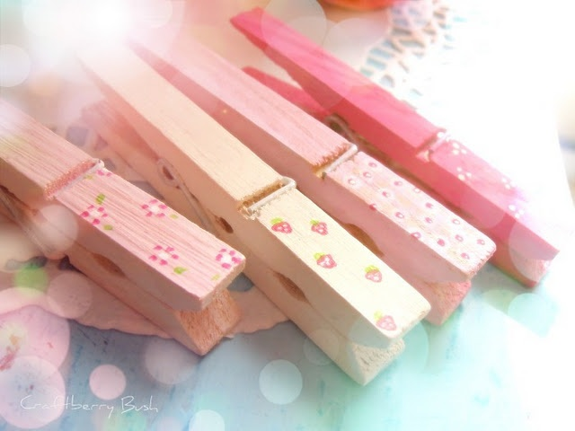 Pretty Altered Clothes Pins