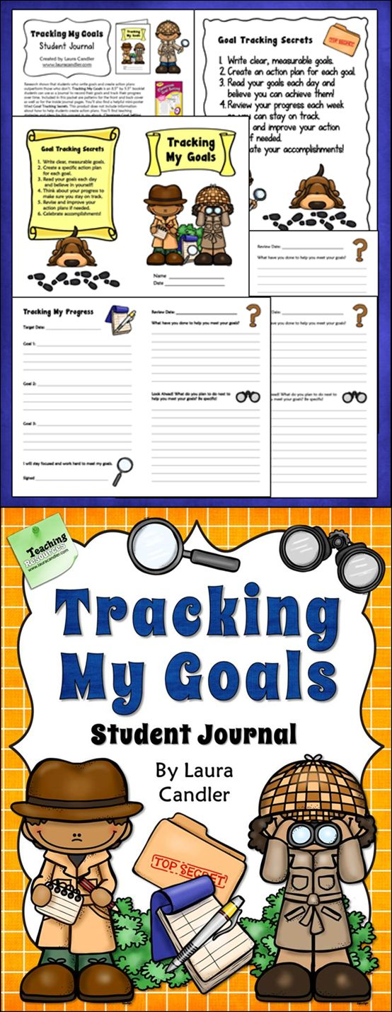50% off for the first 24 hours! Tracking My Goals Student Journal ... perfect for upper elementary students to record their goals and track their progress. $ #LauraCandler