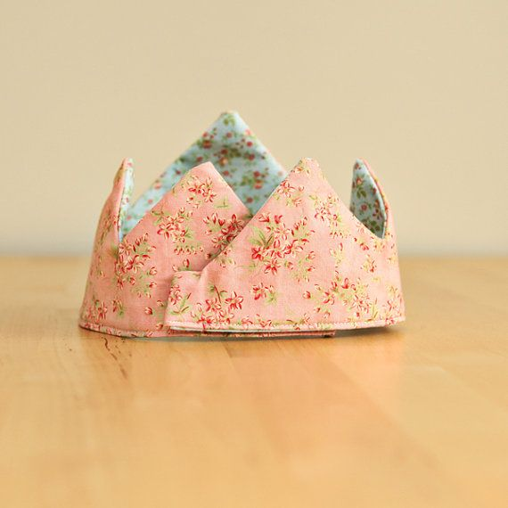 Birthday Crown  Fabric Crown  Kids by thehandcraftedstory on Etsy, $20.00
