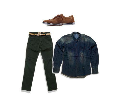 Denim shirt & cninos trousers  #millenniumshop http://goo.gl/E6z8ep http://goo.gl/s3LOJp http://goo.gl/ttdS9q