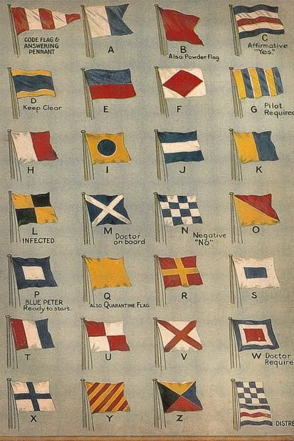 Vintage nautical flags.