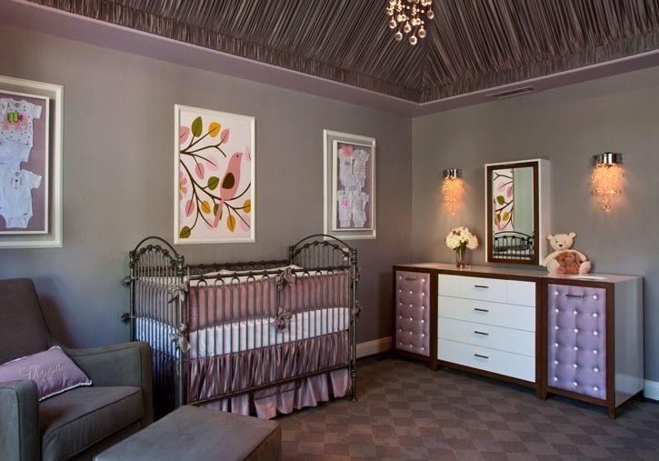 This #purple #nursery is pure luxury