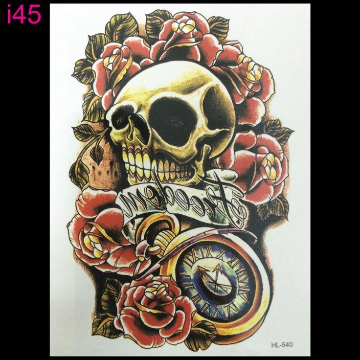 Скелет 3d татуировки Временные Наклейки Татуировки Флэш татуировки секс красивая девушка скелет Боди-Арт Экзотические Макияж бесплатная доставка