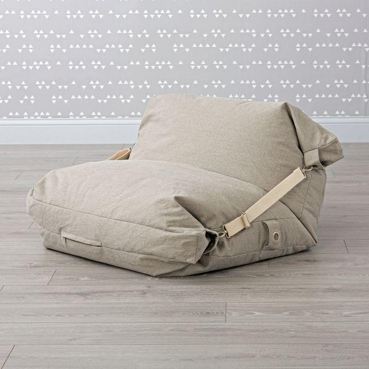 Adjustable Light Grey Bean Bag Chair