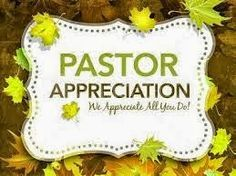 Pastor Appreciation Month IDeas