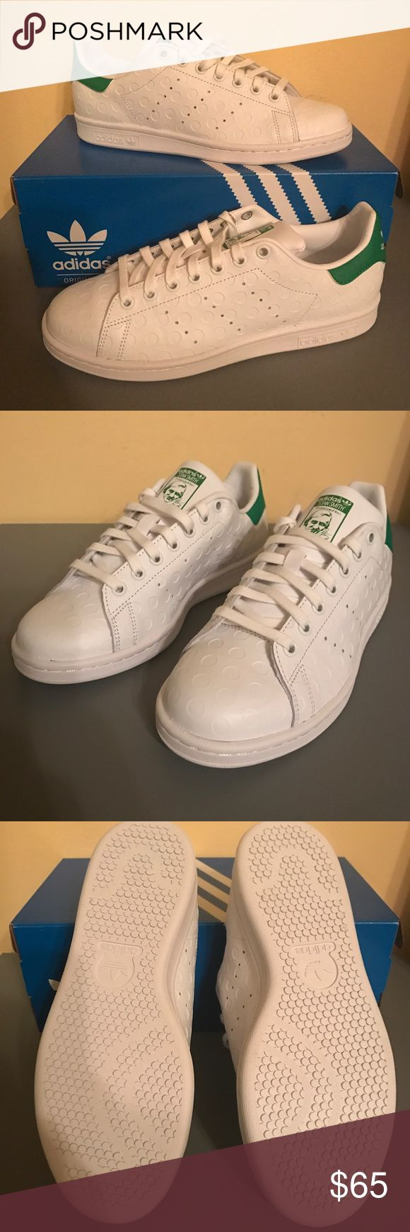 NWT: Adidas's Stan Smiths New with box included. Adidas Stan Smiths. Classic lace up with circle design. Adidas Shoes Sneakers