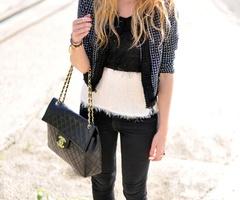 modern way to wear Chanel.....love it!!