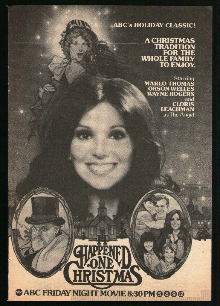 1979 Tv Ad It Happened One Christmas Marlo Thomas Tv Movie Advertisement Marlo Thomas