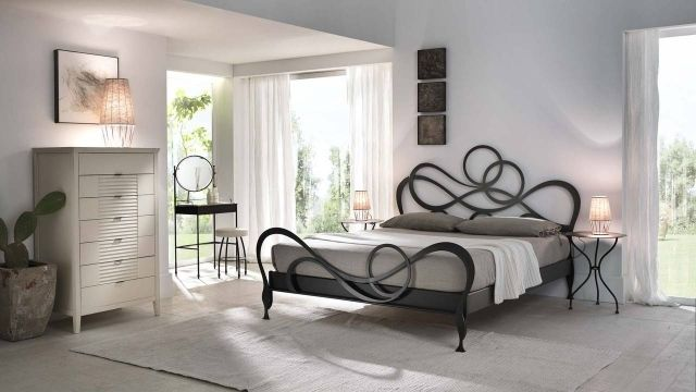 t te de lit originale en fer forg 30 id es inspirantes. Black Bedroom Furniture Sets. Home Design Ideas