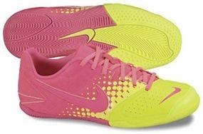 3% off of your order over $100! Nike5 Elastico Youth Indoor Soccer Shoes (Volt/Pink Flash) #soccercorner