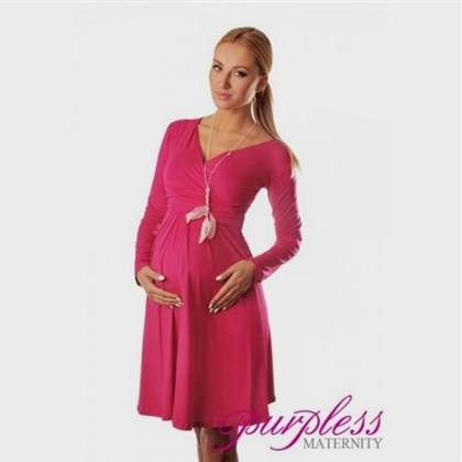 Nice pink maternity dress with sleeves 2017-2018