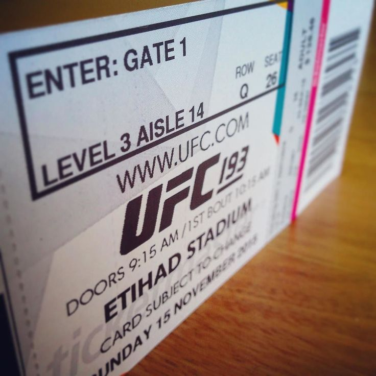 Our UFC tickets arrived :)